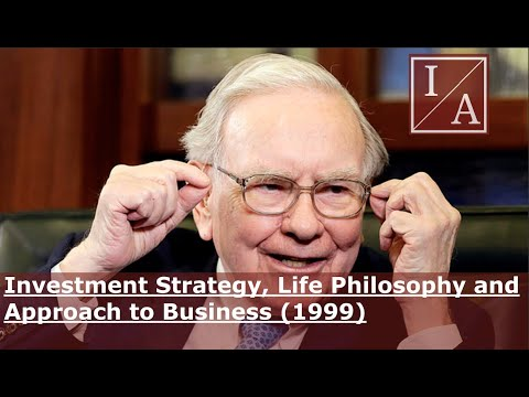 Warren Buffett in 1999: Investment Strategy, Life Philosophy and Approach to Business