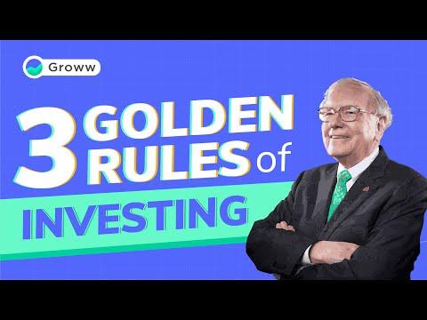 Warren Buffett – 3 Golden Rules for Investing by Warren Buffett | Warren Buffett Investment Strategy