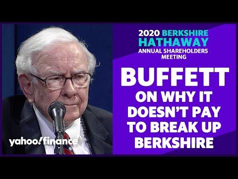 Warren Buffett: Why it wouldn't pay to break up Berkshire Hathaway