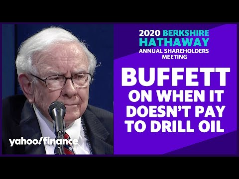 Warren Buffett: Oil production is going to go down because it doesn't pay to drill