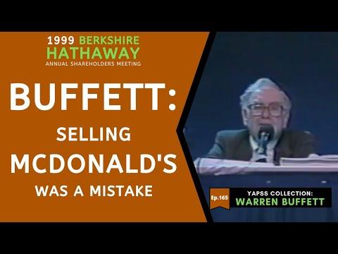 【C:W.B Ep.165】Warren Buffett: Billion-dollars Mistake of Selling McDonald's   BerkshireHathaway 1999