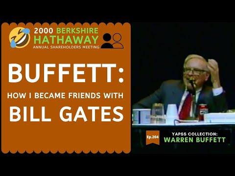 【C:W.B Ep. 204】How Warren Buffett became friends with Bill Gates? | Berkshire Hathaway 2000