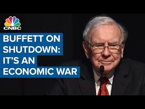 Warren Buffett on shutting down amid Covid-19: 'It's an economic war'